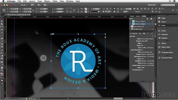 Editing graphics in their original application: InDesign CC Essential Training (2013)