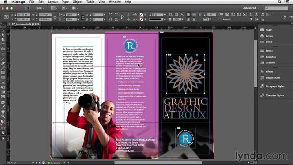 Selecting objects: InDesign CC Essential Training (2013)