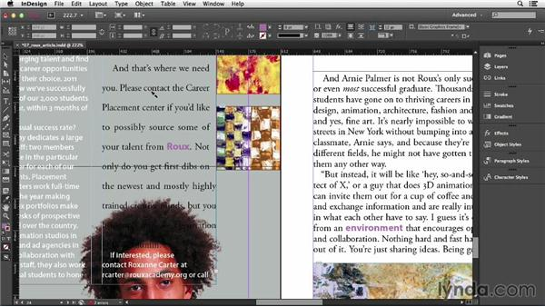 Copying formatting with the Eyedropper tool: InDesign CC Essential Training (2013)