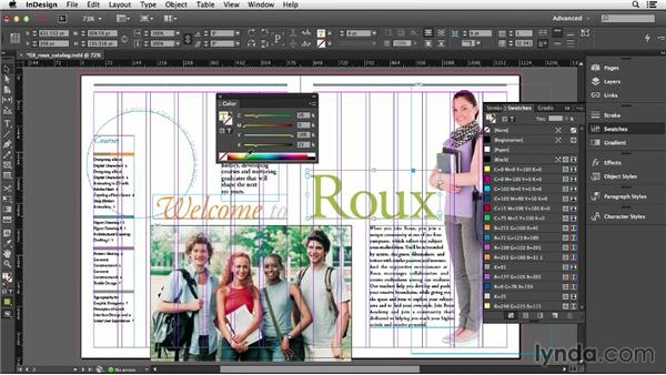 Understanding the danger (and power) of unnamed colors: InDesign CC Essential Training (2013)