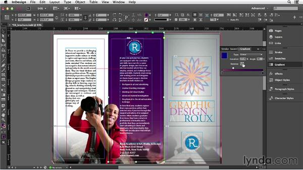 Applying gradients: InDesign CC Essential Training (2013)