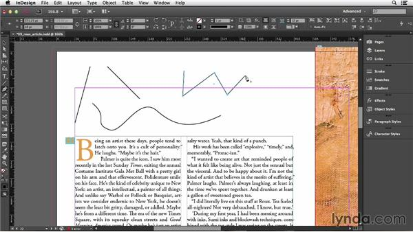 Editing frame and path shapes: InDesign CC Essential Training (2013)