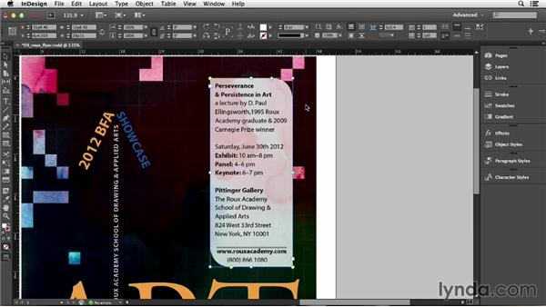 Adding rounded corners and other corner options: InDesign CC Essential Training (2013)