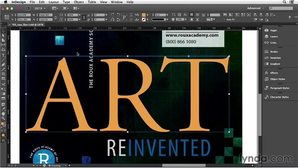 Creating text outlines: InDesign CC Essential Training (2013)