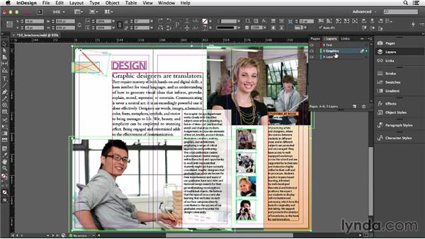 Creating and controlling layers: InDesign CC Essential Training (2013)