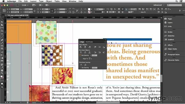 Aligning and distributing: InDesign CC Essential Training (2013)