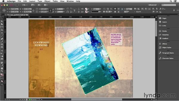 Rotating objects: InDesign CC Essential Training (2013)