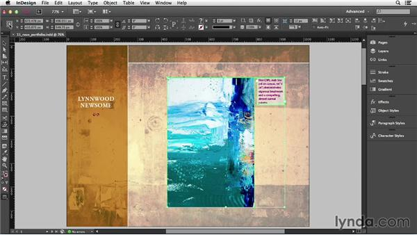Skewing objects: InDesign CC Essential Training (2013)