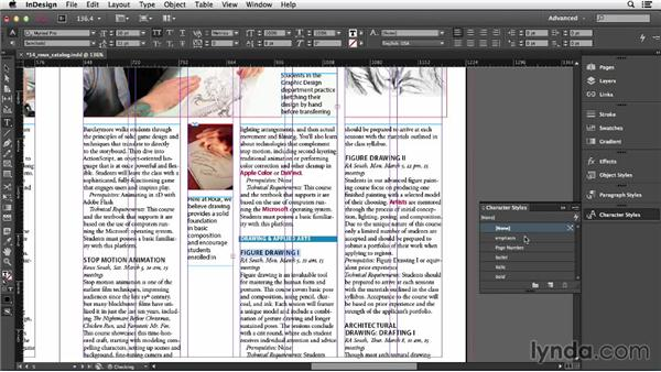 Using character styles: InDesign CC Essential Training (2013)
