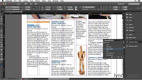Editing and redefining styles: InDesign CC Essential Training (2013)