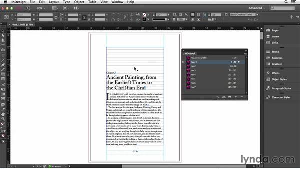 Building a multidocument book: InDesign CC Essential Training (2013)