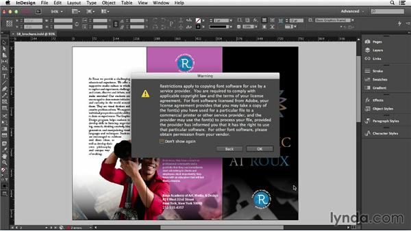 Packaging for output (CC 2014): InDesign CC Essential Training (2013)