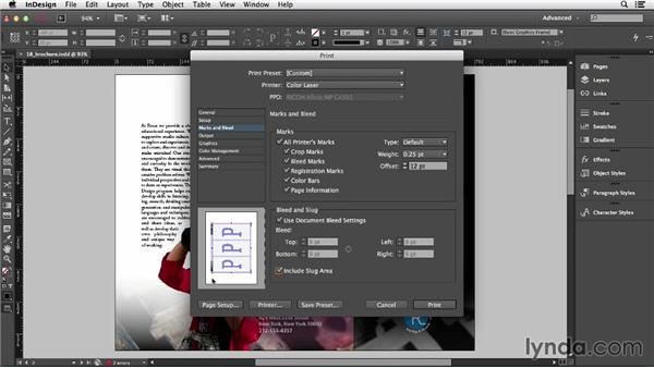 Using the Print dialog: InDesign CC Essential Training (2013)