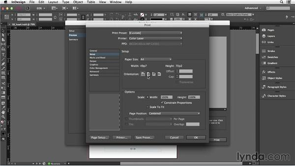 Printing a small booklet: InDesign CC Essential Training (2013)