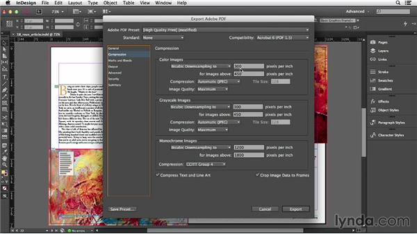 Exporting a PDF: InDesign CC Essential Training (2013)