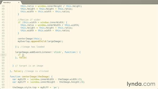 Handling clicks: JavaScript: Enhancing the DOM