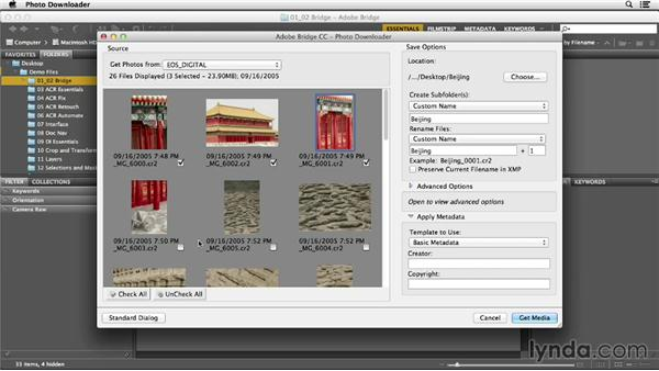 Getting photos from a camera: Photoshop CC Essential Training (2013)