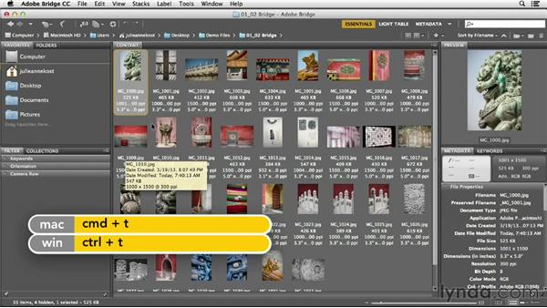 Customizing how thumbnails are displayed: Photoshop CC Essential Training (2013)