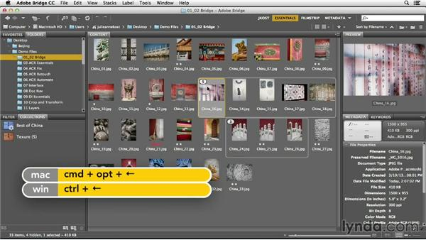 Organizing groups of images into stacks: Photoshop CC Essential Training (2013)