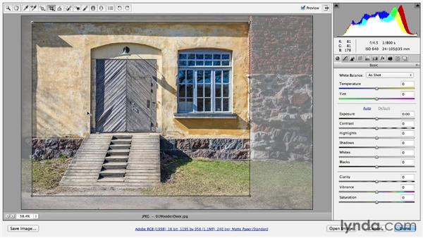 Using the nondestructive Crop tool: Door and window with ramp: Photoshop CC Essential Training (2013)