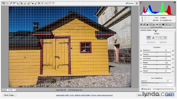 Correcting lens distortion: Photoshop CC Essential Training (2013)
