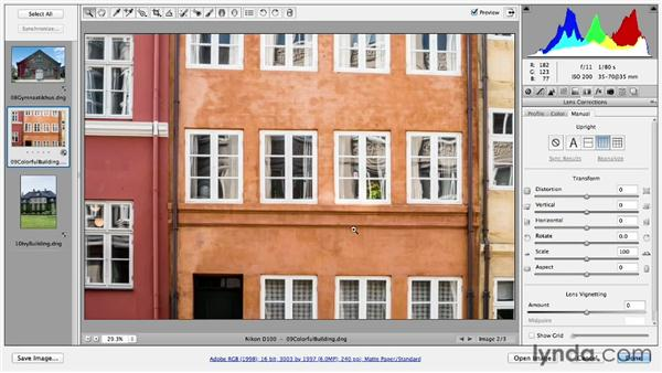 Making perspective corrections to images: Photoshop CC Essential Training (2013)