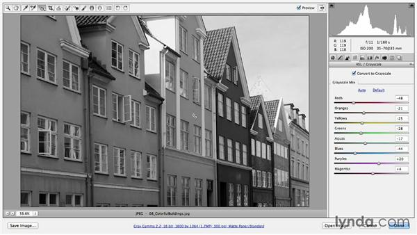 Editing images directly with the Targeted Adjustment tool: Photoshop CC Essential Training (2013)