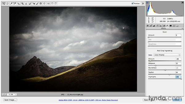 Adding vignettes and border effects: Photoshop CC Essential Training (2013)
