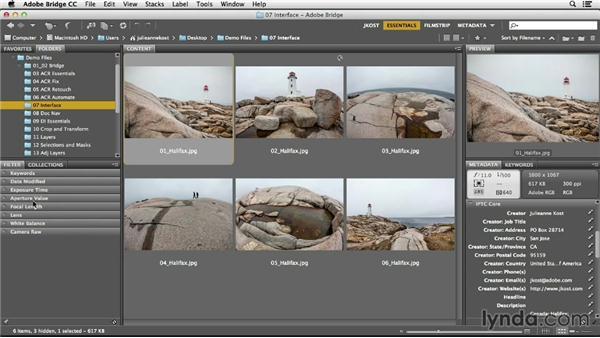 Opening files from Bridge: Photoshop CC Essential Training (2013)