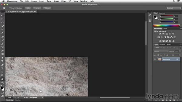 Panning, zooming, and using the Rotate View tool: Photoshop CC Essential Training (2013)