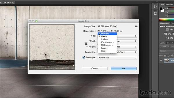 How big a print can you make with your image?: Photoshop CC Essential Training (2013)