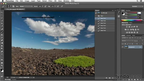 Using Undo and the History panel: Photoshop CC Essential Training (2013)
