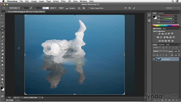 Cropping to the perfect print size: Photoshop CC Essential Training (2013)