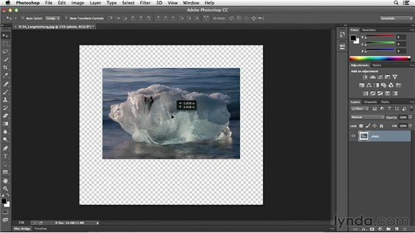 Making the canvas bigger using the Canvas Size command: Photoshop CC Essential Training (2013)