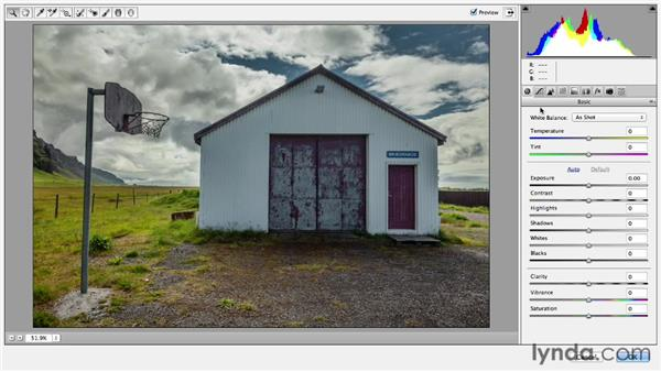 Removing keystoning from buildings: Photoshop CC Essential Training (2013)