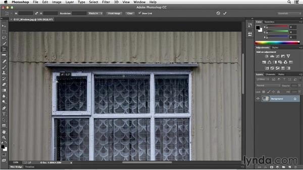 Using the Perspective Crop tool: Photoshop CC Essential Training (2013)