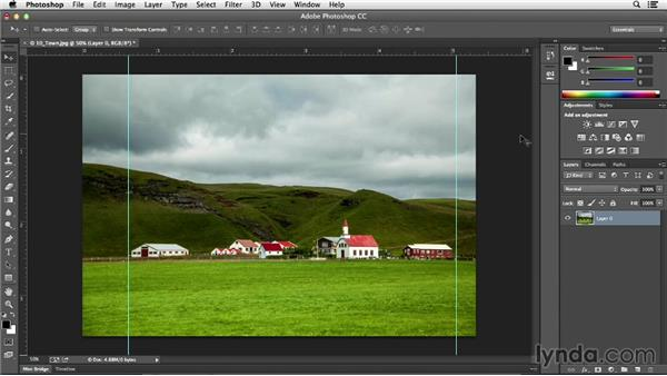 Preserving important elements with Content-Aware Scale: Photoshop CC Essential Training (2013)