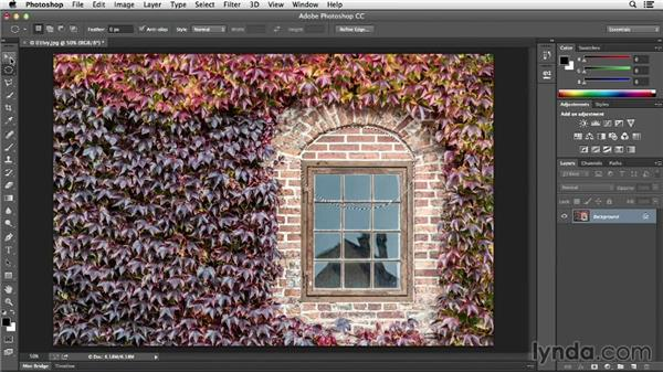 Combining selections: Photoshop CC Essential Training (2013)