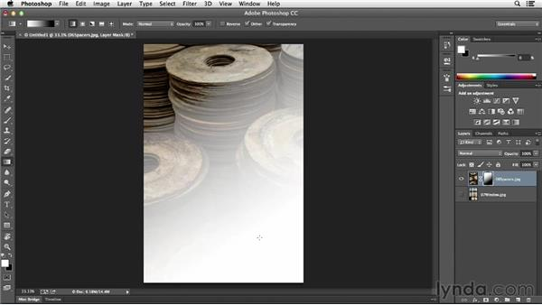 Blending images with a gradient layer mask: Photoshop CC Essential Training (2013)
