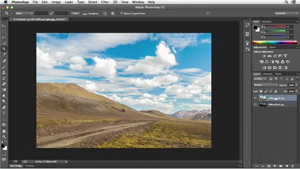 Combining multiple exposures with layer masks: Photoshop CC Essential Training (2013)