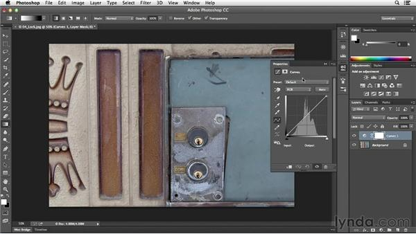 Increasing midtone contrast with Curves: Photoshop CC Essential Training (2013)