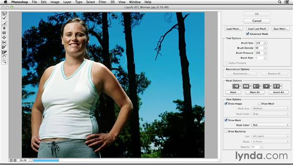 Body sculpting with Liquify: Photoshop CC Essential Training (2013)