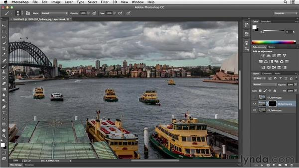 Combining multiple frames of an action sequence: Photoshop CC Essential Training (2013)