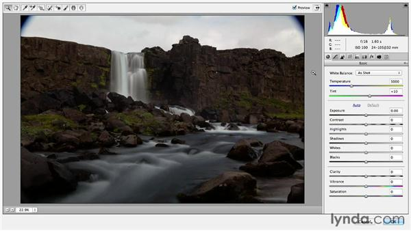 Working with bracketed exposures (HDR): Photoshop CC Essential Training (2013)