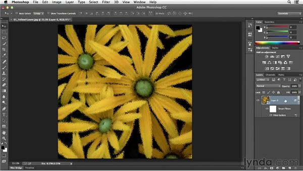 Applying filters nondestructively with Smart Filters: Photoshop CC Essential Training (2013)