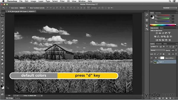 Creating an infrared look with Diffuse Glow: Photoshop CC Essential Training (2013)