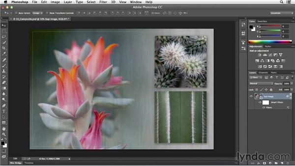 Applying a filter to multiple layers: Photoshop CC Essential Training (2013)