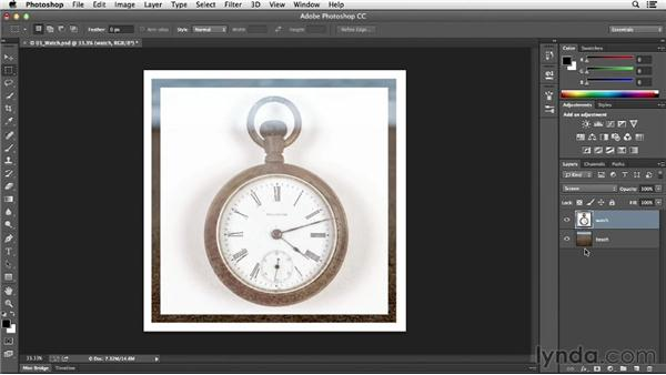 Cycling through the blending modes: Photoshop CC Essential Training (2013)