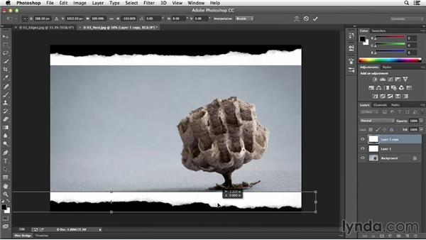 Scanning or photographing paper to add a deckled edge: Photoshop CC Essential Training (2013)
