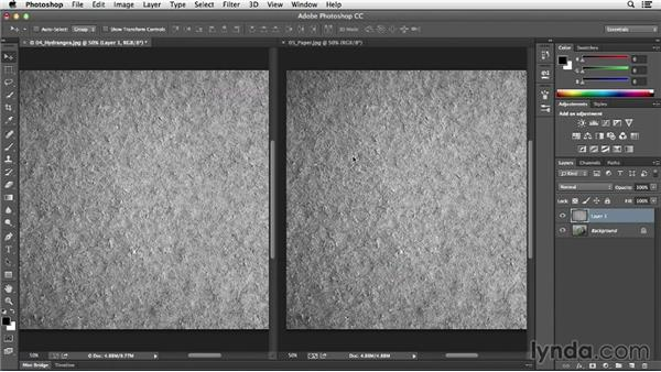Adding texture with blend modes: Photoshop CC Essential Training (2013)